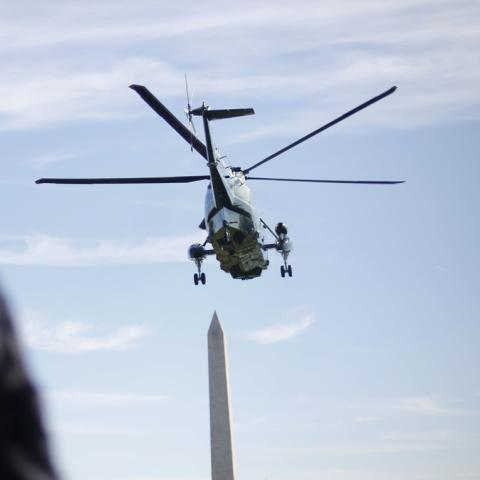Secret service watches Marine One
