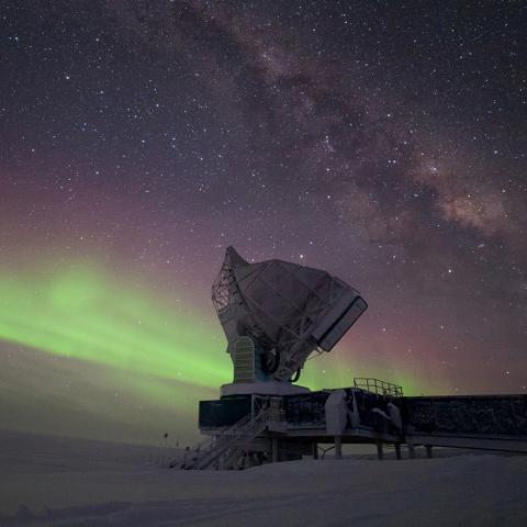 South Pole Telescope - Aurora