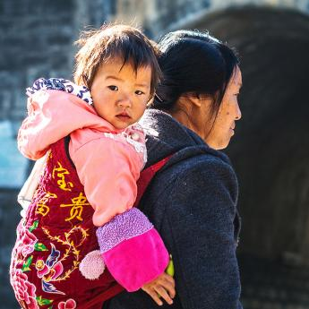 Mother and child in rural China