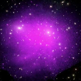 Plasma in distant galaxy cluster