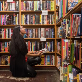 Samira Ahmed looks at books in the 57th St Bookstore