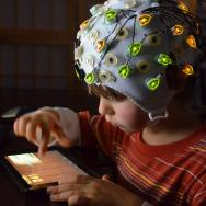 Child with EEG performing task