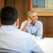 Obama at foundation meeting