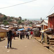 Fast-growing informal settlement in Africa